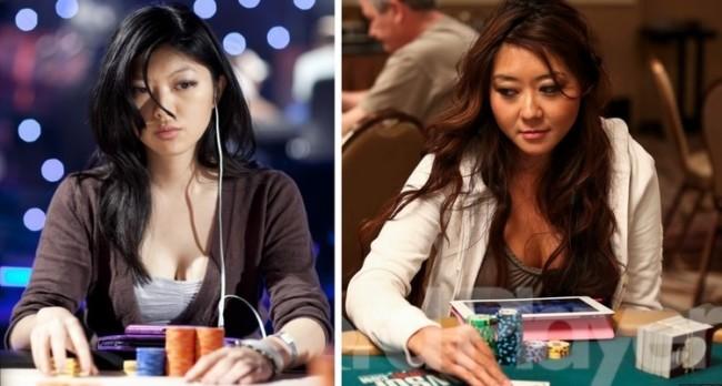 Playing poker at a casino